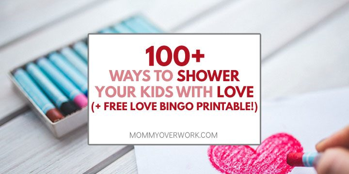 love languages kids children shower kids love free bingo printable