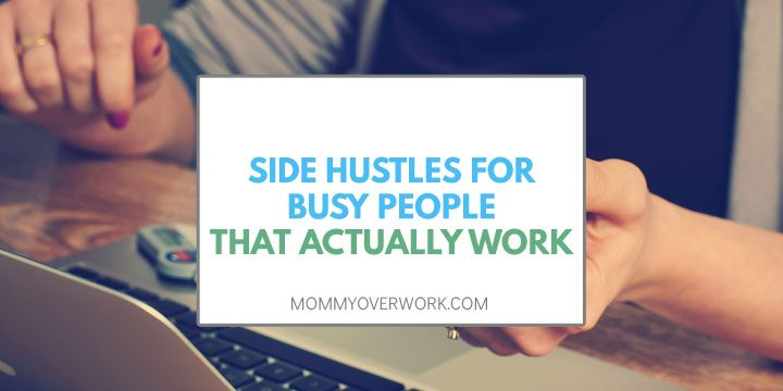 side hustles busy people atop female doing work at home online