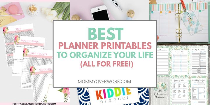 totally free planner printables to sort entire life atop weekly daily planner, meal planner, contacts, budget sheets