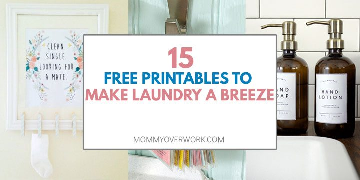 Free laundry room decor printables, from cute wall art to useful cheat sheets and practical checklists