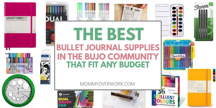 best bullet journal supplies buys, notebooks, pens, accessories