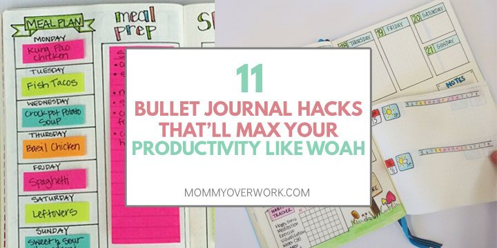 bullet journal tips and hacks to increase productivity post its and dutch door example spread
