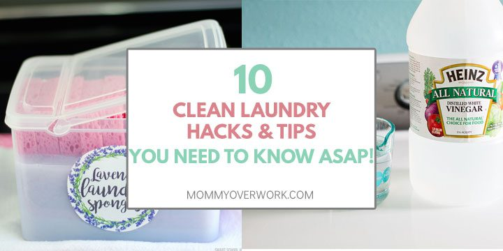 clean laundry tips and hacks atop homemade lavender fabric softener sponges and natural way to clean washing machine