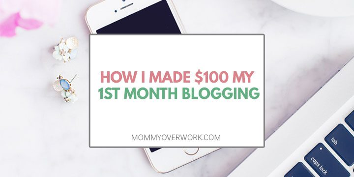 how i made $100 my first month blogging atop iphone and part of keyboard overhead shot