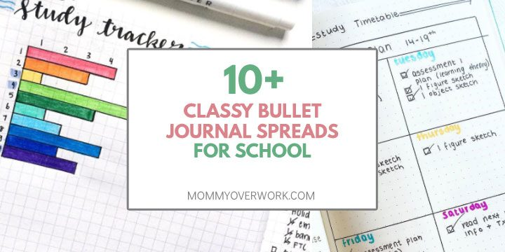 10 classy bullet journal spreads for school atop study tracker and study plan