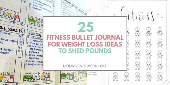 25 fitness bullet journal for weight loss ideas to shed pounds text atop steps, calorie, sleep, alcohol, headache, and fitness trackers
