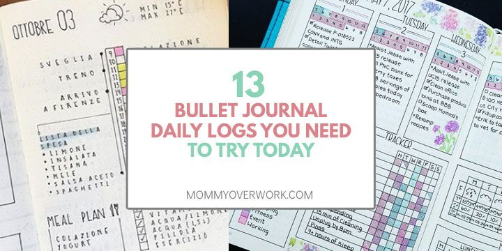 13 bullet journal daily logs and spread to try today with creative task tracker, routine schedule, and weekly calendar