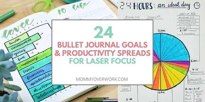 bullet journal goals and productivity spreads for laser focus atop level 10 life and ideal day schedule routine