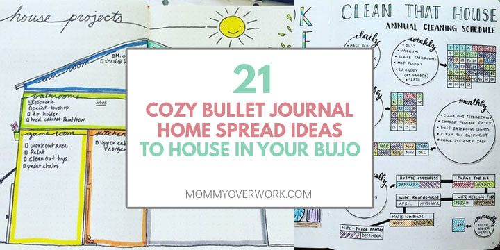 bullet journal house cleaning schedule home projects spreads text atop chore tracker list