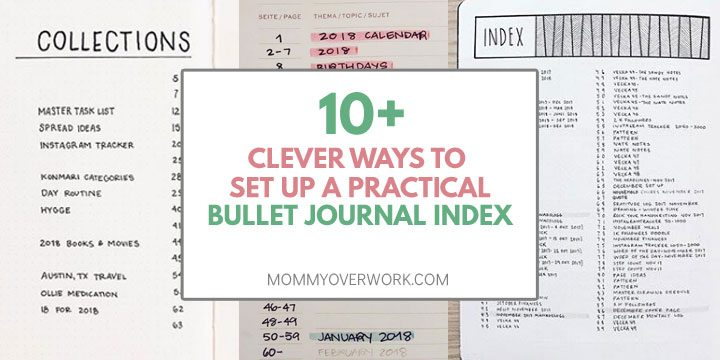 10 clever ways to set up practical bullet journal index ideas and examples with highlighting, minimalist