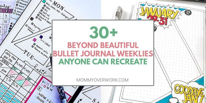 30 beyond beautiful bullet journal weekly spreads anyone can recreate atop colorful spreads, creative layouts