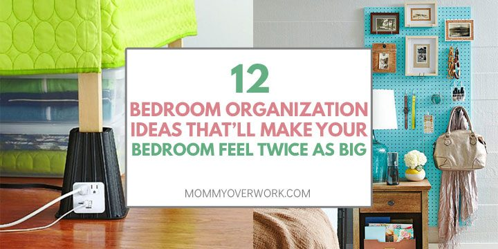 bedroom organization ideas for a small bedroom atop bed risers and pegboard collage