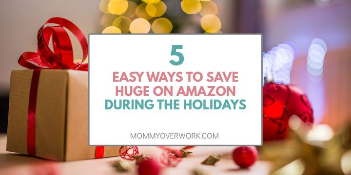 easy ways to save money on amazon during holidays atop christmas gift red ribbon and ornament