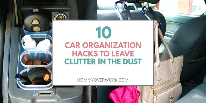 car organization tips, hacks, ideas to leave clutter in dust atop diy console compartments and carabiners from headrest
