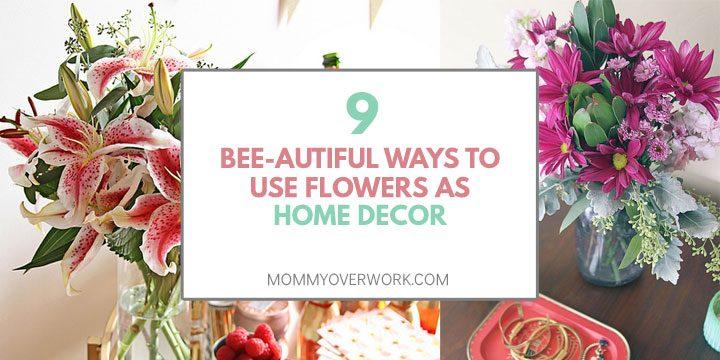collage of floral home decor diy arrangement ideas.