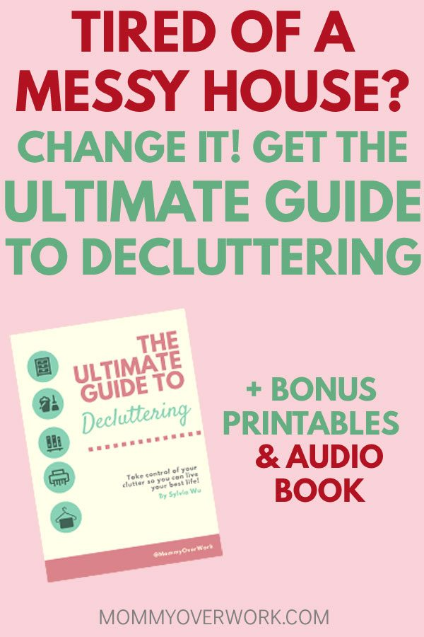 how to declutter your home step by step ebook guide with printables, checklists, tips, and audiobook