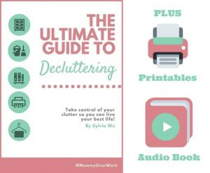 ultimate guide to decluttering mega bundle with ebook, printables, and audio book