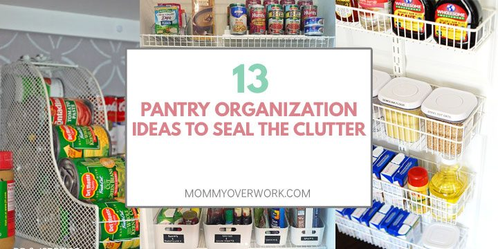 pantry organization ideas to seal the clutter atop magazine holder canned goods chalkboard basket bins wire shelves on door collage