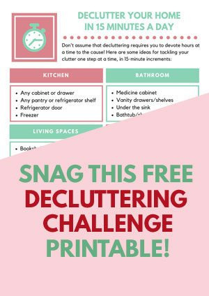 how to declutter home in 15 minutes a day printable broken down by rooms