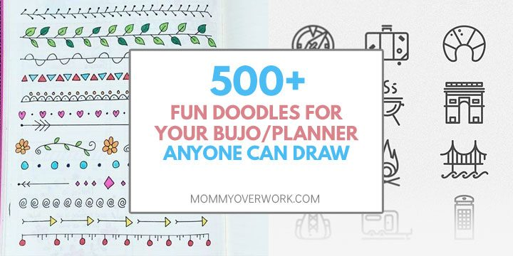 500 fun doodles for your bullet journal or planner anyone can draw atop borders and dividers and travel icons