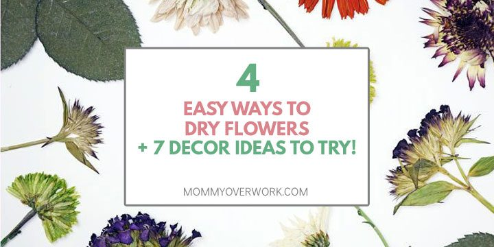 easy ways to dry flowers and decor ideas to try atop overhead view of pressed flowers