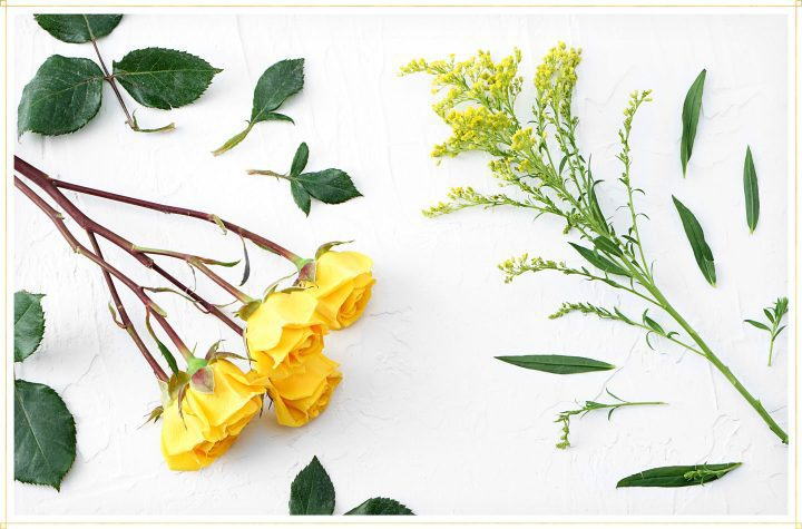 drying flowers step 1 - remove leaves from stems of flowers