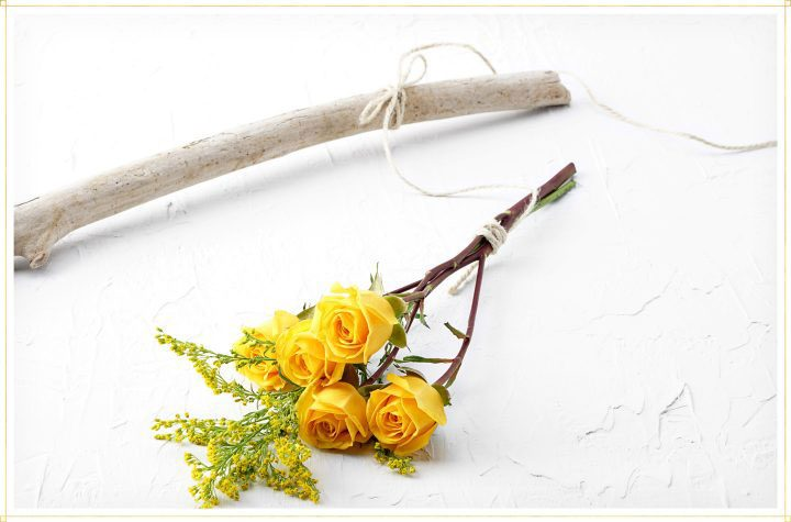 dry flowers step 3 - tie string to a branch or some type of hold