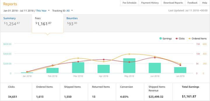 amazon revenue for new blog lifestyle