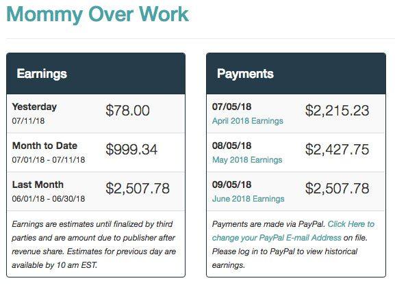 mommy over work mediavine ad revenue