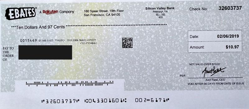 actual rakuten earnings check.