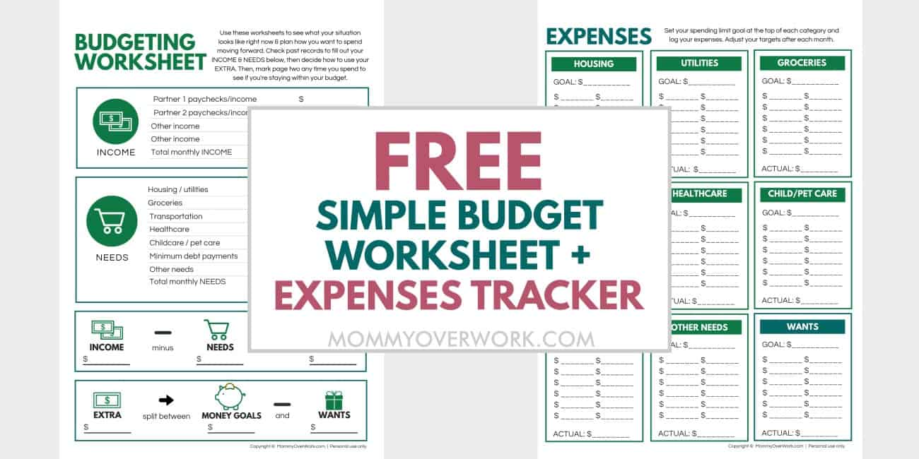 free simple budget worksheet and expenses tracker text atop sample of beginner budget template sample.
