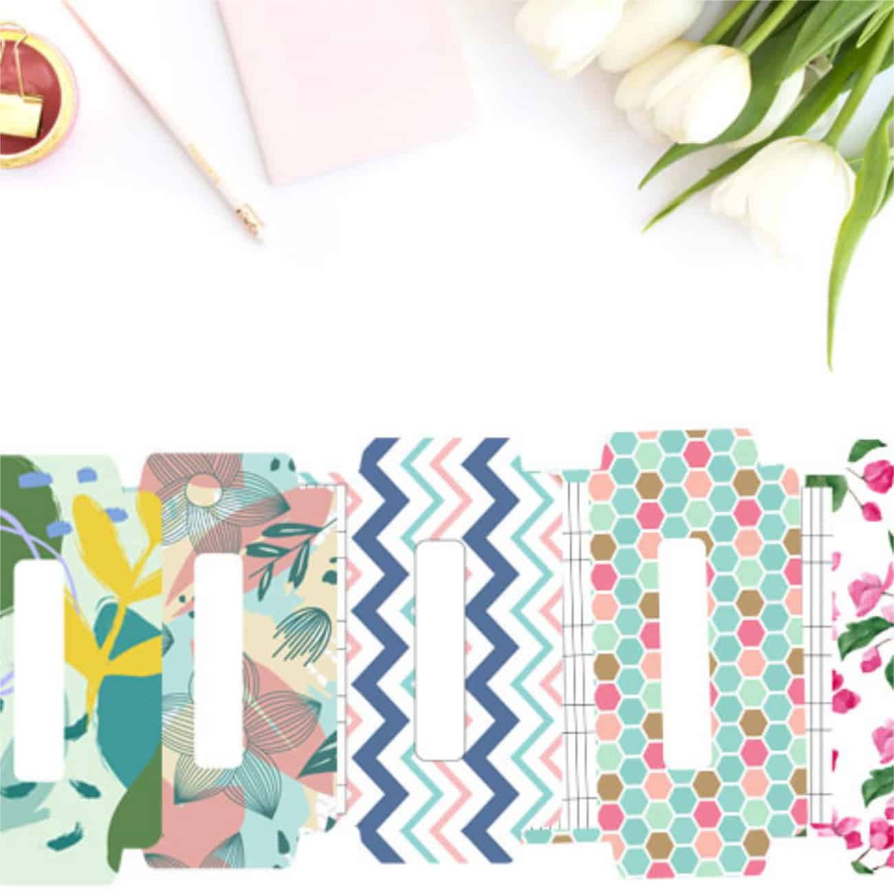 preview of free cash envelope templates with gorgeous, feminine designs like florals, hexagons, chevron, and botanical patterns.