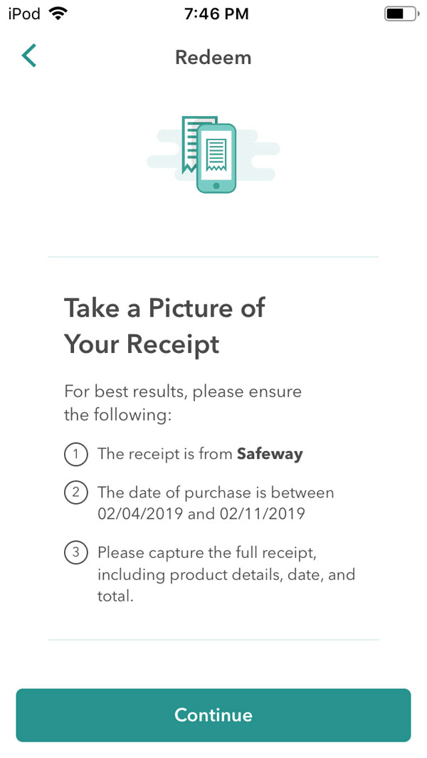how ibotta works - instructions for how to scan receipt.