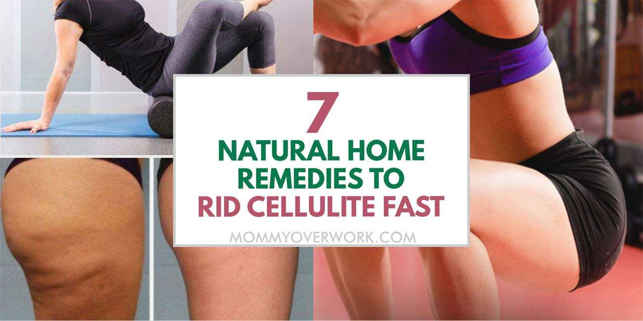 collage of techniques on how to get rid of cellulite naturally including before and after picture.