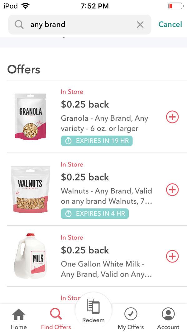 ibotta app review screenshot any brand any item rebate.