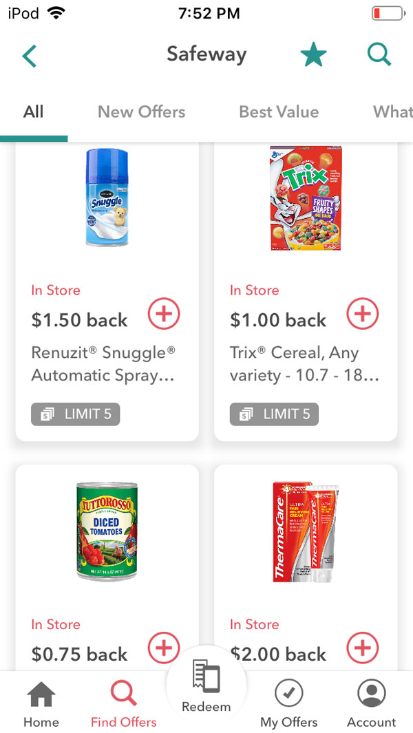 ibotta app review - lots of rebates available that can be searched by merchant.
