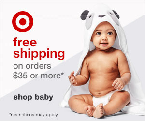 target baby registry with free shipping 300x250 ad banner.